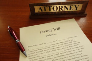 Living will form crated by an attorney for his clients.